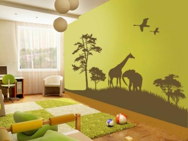 stickers-pour-chambre-bébé-paysage-du-jungle