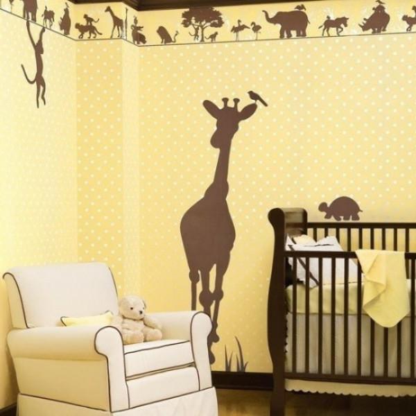 stickers-pour-chambre-bébé-silhouètes-d'animaux