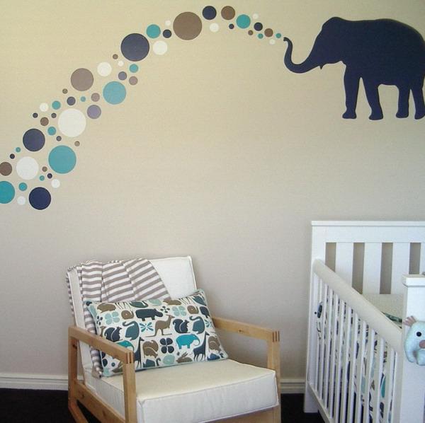 stickers-pour-chambre-bébé-un-éléphant