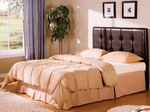 tête-de-lit-capitonnée-pour-un-lit-couleur-pêche