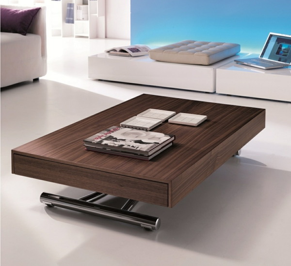 Innovation table de salon relevable - Table basse relevable et extensible pas cher ...