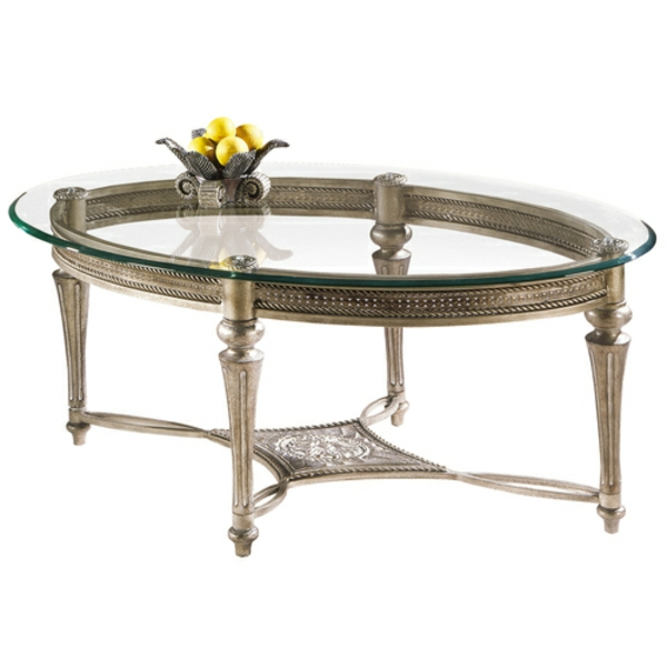 table-basse-ovale-verre-et-acier