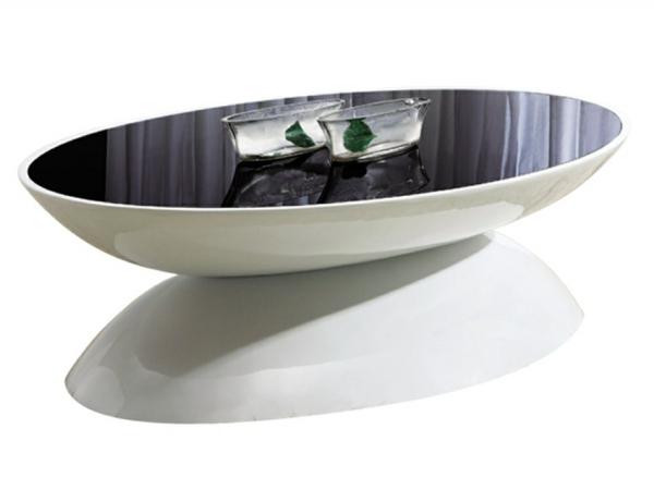 La table basse ovale variantes modernes d 39 un meuble for Table basse ovale noire