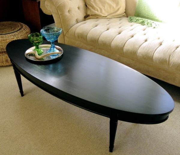 table-basse-ovale-bois-foncé