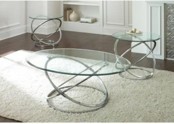 table-basse-ovale-sur-un-tapis-blanc