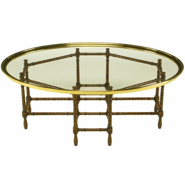 table-basse-ovale-encadrement-jaune