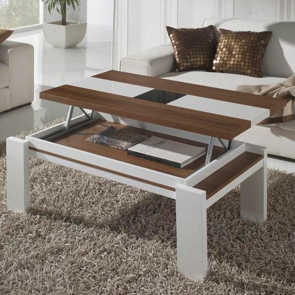 Innovation table de salon relevable - Table haute et basse ...