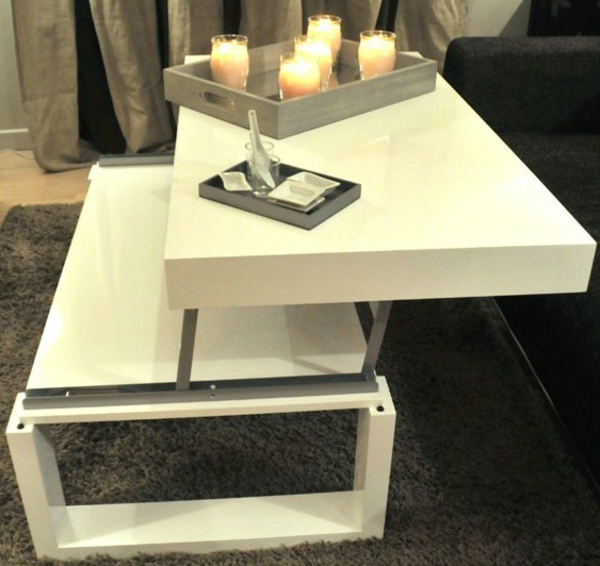 table-basse-relevable -blanche