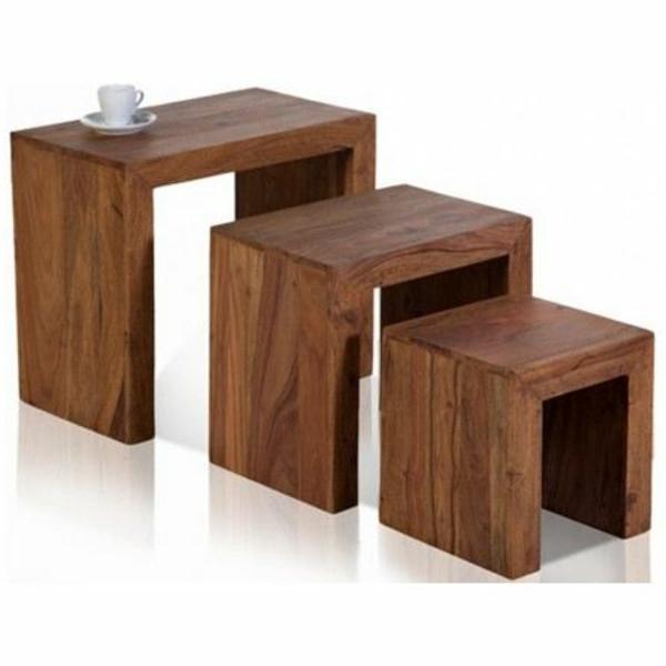 Une table gigogne vous offre du confort et de l 39 esth tisme for Table gigogne bois