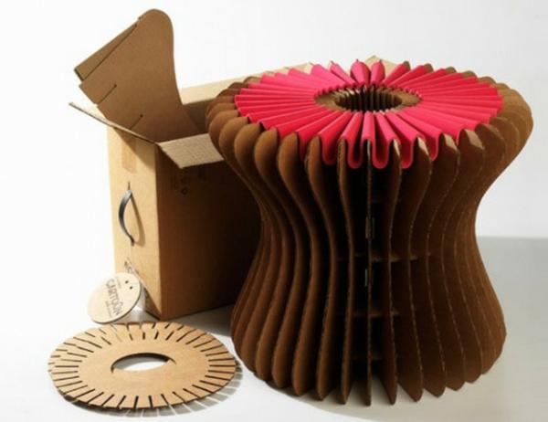 tabouret-rond-en-carton