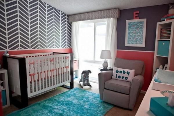 tapis-chambre-bebe-bleu-shaggy