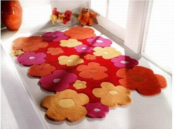 tapis-chambre-bebe-rouge