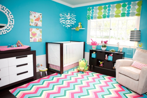 tapis-chambre-bebe-turquoise