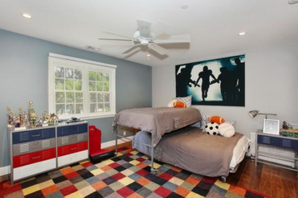 tapis-de-chambre-ado-aux-carrés-multicolores