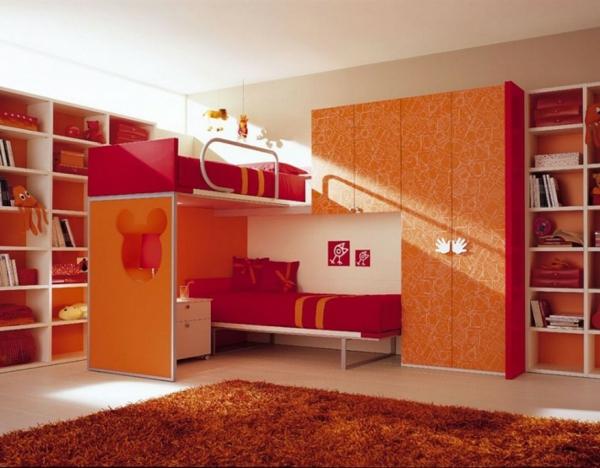 tapis-de-chambre-ado-orange-moelleux