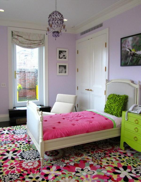 tapis-de-chambre-ado-à-fleurs-joyeuses