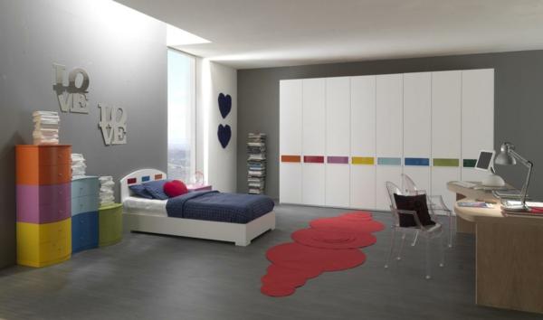 tapis-de-chambre-ado-rouge-original