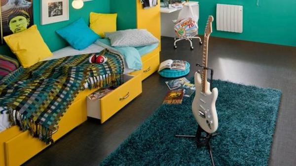tapis-de-chambre-ado-vert