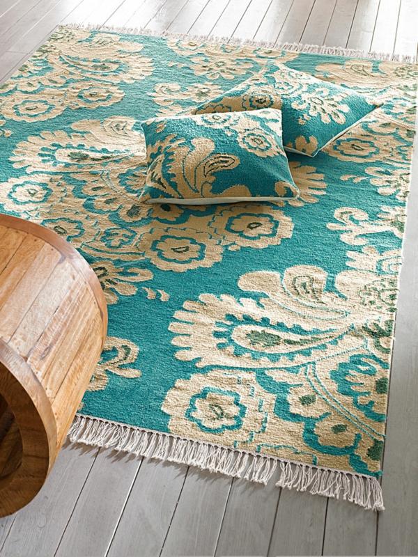 tapis-kelim-arabesques-turquoises