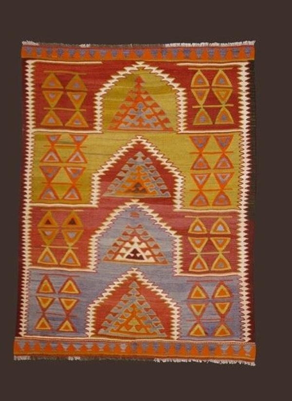 tapis-kilim-laine-turc-orange