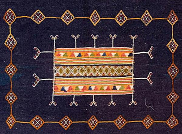 tapis-kilim-marocain-indigo