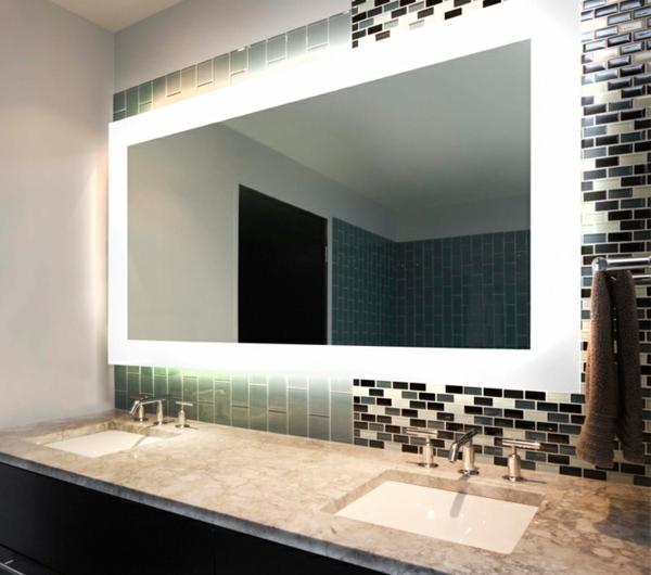 idees d39 eclairage de miroir pour la salle de bain With porte d entrée alu avec eclairage salle de bain au dessus miroir