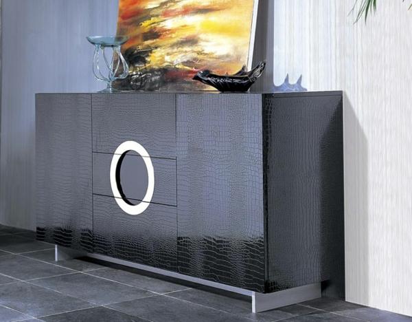 vaisselier-moderne-en-noir-et-une-peinture-en-jaune-et-noire
