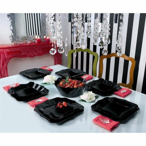 vaisselle-luminarc-assiettes-creuses-noires