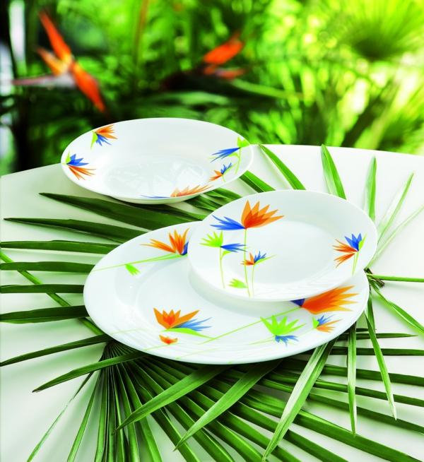 vaisselle-luminarc-blanche-décorée
