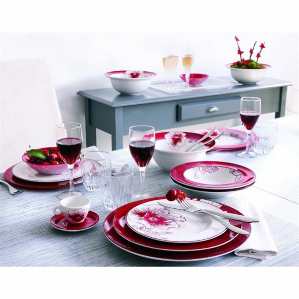 vaisselle-luminarc-les-assiettes-à-fleurs