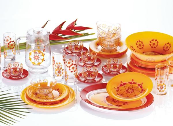 vaisselle-luminarc-service-en-verre-et-en-plastique