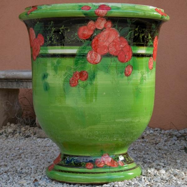 vase-d' anduze-en-rouge-et-vert