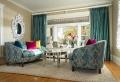Le voilage turquoise pour un intérieur doux et élégant