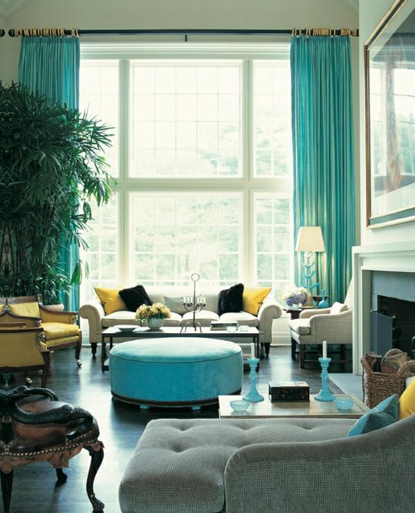 voilage-turquoise-et-un-intérieur-fascinant