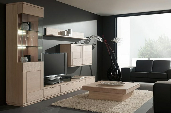Mod les de meuble tv en bois for Modele de salon contemporain