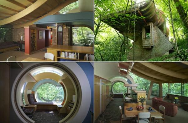 Inhabituelle la maison de la for t en mat riaux naturels - Maison design foret kube architecture ...