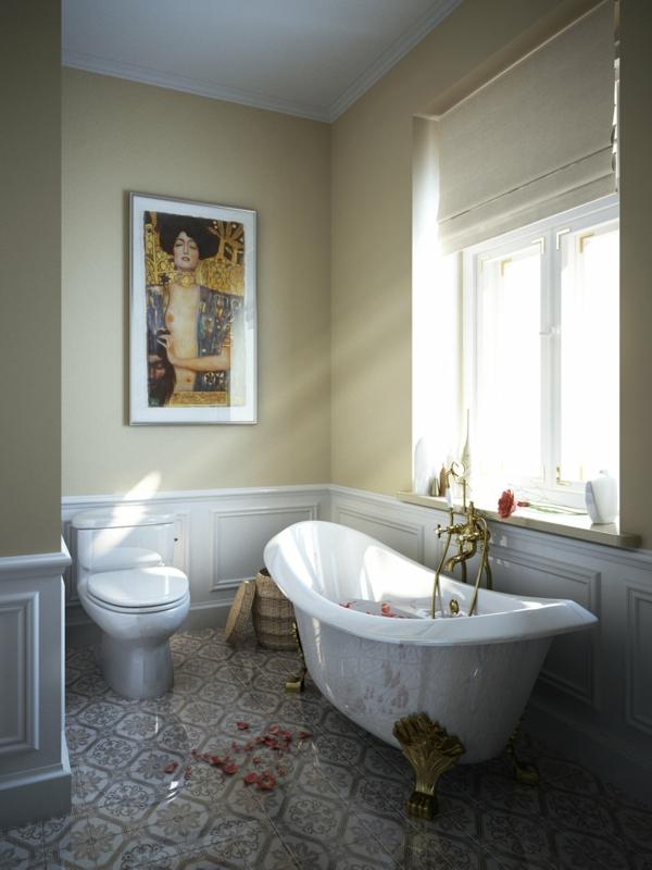 baignoire-sabot-salle-de-bains-eclectique