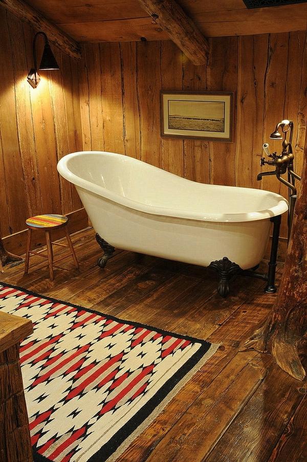 baignoire-sabot-salle-de-bains-rustique
