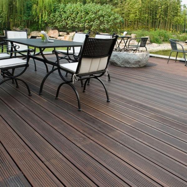 bamboo-chaise-revêtement de la terrasse
