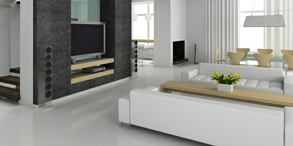 le b ton cir dans la maison moderne. Black Bedroom Furniture Sets. Home Design Ideas