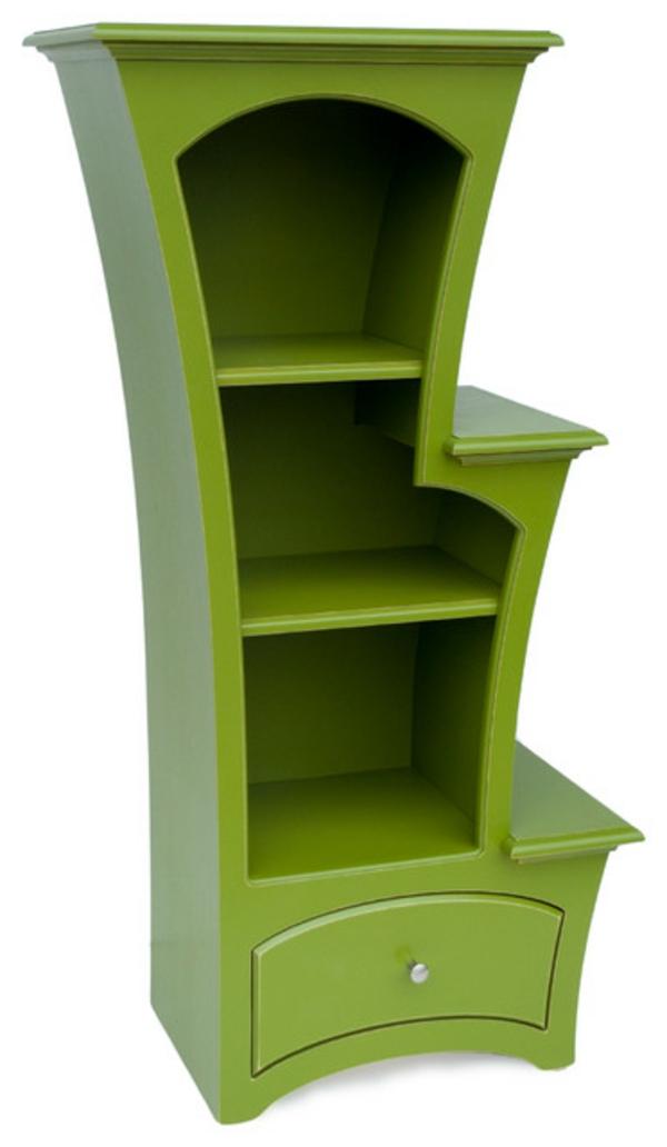 bibliothèque-d'enfant-en-vert