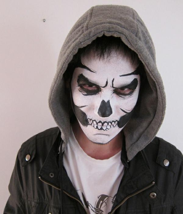 Comment Faire Le Coloriage De Halloween Pour Le Visage