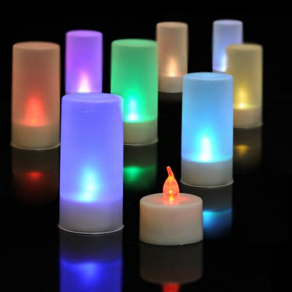 bougie-led-rechargeable-bougies-à-couleurs-changeantes