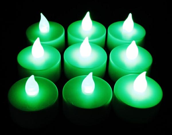 bougie-led-rechargeable-bougies-à-lueur-verte