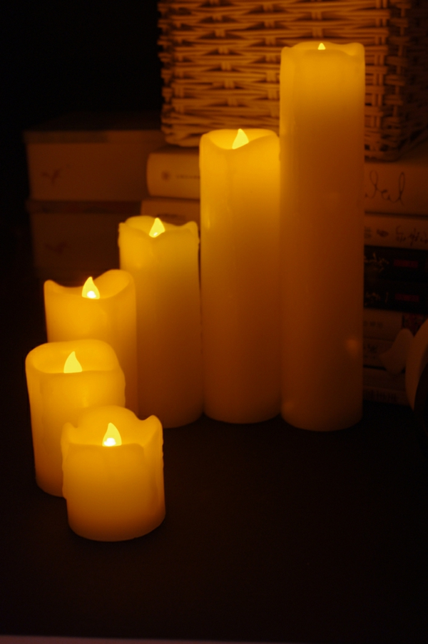 bougie-led-rechargeable-bougies-à-paraffine