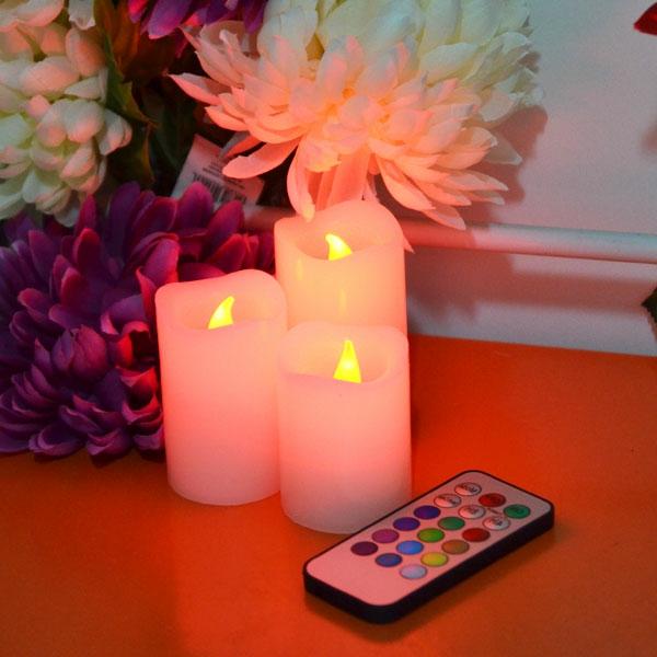 bougie-led-rechargeable-ddécoration-fleurs-et-bougies