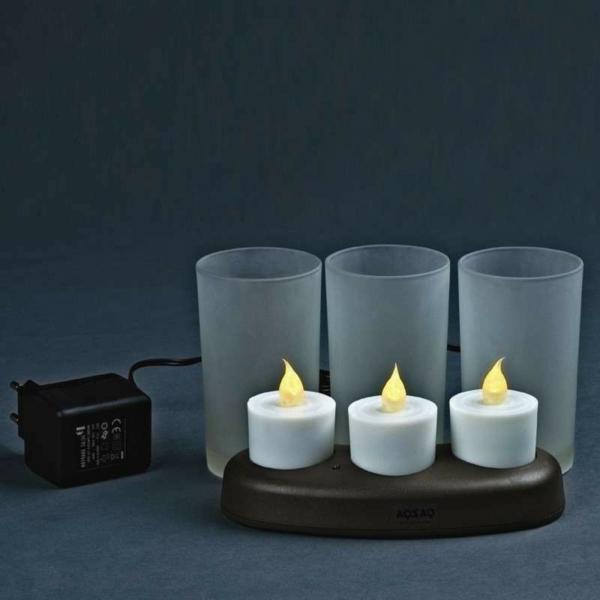 la bougie led rechargeable est une d coration jolie et cr ative. Black Bedroom Furniture Sets. Home Design Ideas
