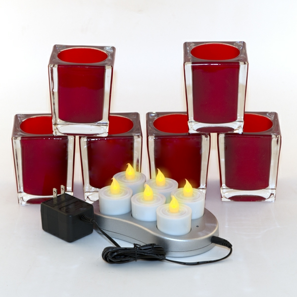 bougie-led-rechargeables-coupes-à-bougies-rectangles