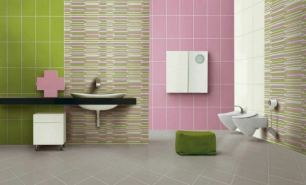 Le carrelage mural de salle de bain for Carrelage rose