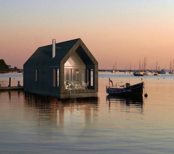cabanes-flottantes-une-cabane-moderne-au-coucher-de-soleil